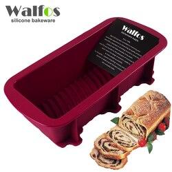 WALFOS 1 pièce Pain moule maker cuisson moule à gâteau en silicone-Grand cuisson dishToast français Pain Pan-Grand Silicone savon moule Moule à pain