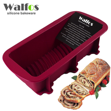 WALFOS 1 piece Bread mold maker baking silicone cake pan-Large baking dishToast french Bread Pan-Big Silicone soap mold Loaf Pan