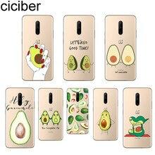 ciciber Cute Avocado Phone Cases For Oneplus 7 Pro 1+7 Pro Soft TPU Cover for Xiaomi 9 Coque For Redmi Note 7 6 Pro Funda Capa