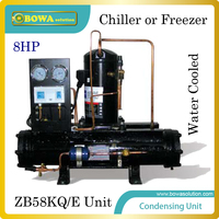 8HP Water Cooled Condensing Unit With Emerson Scroll Compressor Suitable For Kinds Of Refrigeration Equipment Or
