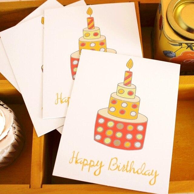 Mehrzweck 50 Stucke Mini Karte Alles Gute Zum Geburtstag Kerze