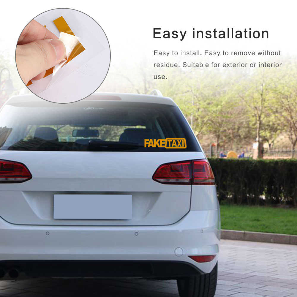1 pièce faux TAXI voiture autocollants réfléchissants autocollants drôle fenêtre vinyle décalcomanies voiture style auto-adhésif emblème voiture autocollants