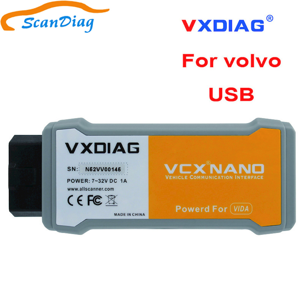 100% Car Tool Nano Original VXDIAG OBD2 Car Diagnostic Tool VCX NANO For Volvo function better Than for Volvo Dice Scanner