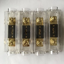 4PCS/lot Inline 0GA 4GA IN OUT Car Stereo ANL Blade Fuse Holder With
