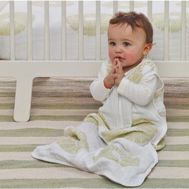 Aden Anais Baby Sleeping Bag Sleeveless100% Muslin Cotton Vest Sleepsacks Spring Summer Autumn 80cm Length for 12-18 Months Baby