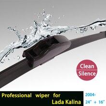 Щетки стеклоочистителей для Lada Kalina (с 2004 г.) 24 «+ 16» стандартных J крюк стеклоочистителей оружие только HY-002