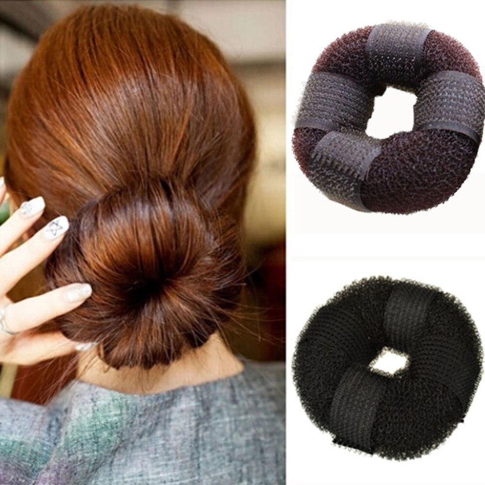 USA SELLER Women Hair Piece Hair Styling Tool Up Do Bun Maker Ring Donut Shaper