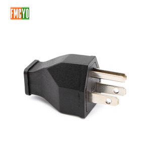 Image 3 - AC power conversion socket US standard / American standard power plug male and female docking pure copper free welding wire plug