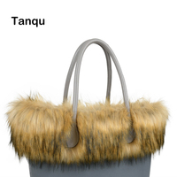Tanqu New Women Bag Faux Raccoon S Fur Plush Trim For O BAG Thermal Plush Decoration