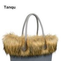 Tanqu New Women Bag Faux Raccoon S Fur Plush Trim For O BAG Thermal Plush Decoration