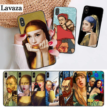 Lavaza Mona Lisa funny Spoof Art Silicone Case for iPhone 5 5S 6 6S Plus 7 8 11 Pro X XS Max XR
