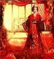 Китайский традиционный свадебное платье красного свадебное костюм для невесты тв играть императрица из династии хань костюм женский