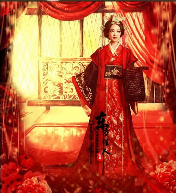 Chinese Traditional Wedding Dress Red Costume For Bride Tv Play Great Empress Of Han Dynasty