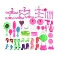 Venda quente 50 pcs boneca acessórios cabide de espelho pente pulseira para bonecas crianças toys
