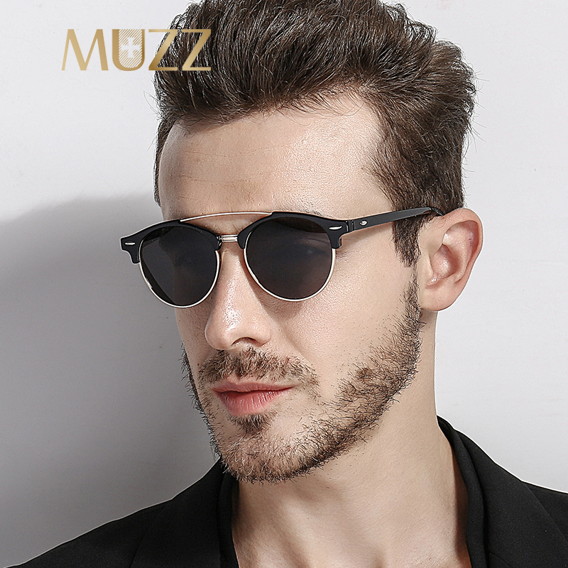 77c0c525f6f MUZZ Fashion Spied Sunglasses Luxury Brand Designer Men Women Sunglasses  Reflective Coating Sunglasses Male UV400 Gafas De Sol
