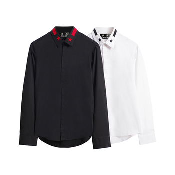 DUYOU Men Shirt 100% Cotton Casual Shirt Long Sleeve Slim Fit Social Man Dress Shirt Camisa Masculina Chemise Homme DY2139