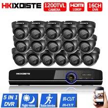 16ch AHD 1080P DVR 5 in 1 hybrid recorder New 1200TVL 720P CCTV Camera 1/3 CCD Indoor nightvision IR HD Surveillance cctv camera