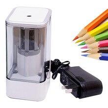 Sacapuntas eléctrico de alta calidad, electrónico automático y de un agujero, con enchufe de seguridad para niños