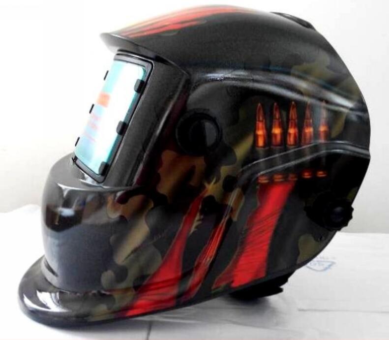 FREE SHIPPING High Quality Solar Auto Darkening Welding Helmet For Welding Grinding Mask welding equipment helmet solar auto darkening polished chrome for free post