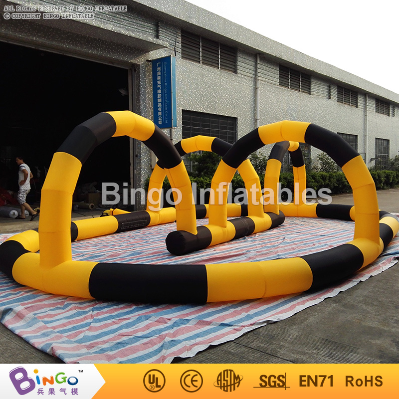 8*5M / 26ft*16ft Inflatable Zorb Ball Race & Car Track, Inflatable Air Tumble Track, Inflatable Go Kart Track for Sale inflatable zorb ball race track pvc go kart racing track for sporting party