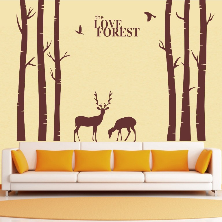 Awesome Aliexpress.com : Buy Vinyl Tree Wall Decals Giant Tree Love Forest Deer  Bird Wall Stickers Decals Home Decor Art Wall Stickers For Kids Room D660  From ... Pictures Gallery