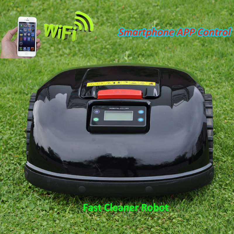 FBA Without Tax Robot Lawn Mower E1600T With 13.2ah Lithium Battery Newest Gyroscope Function,Water-prooofed Charger 300m Wire