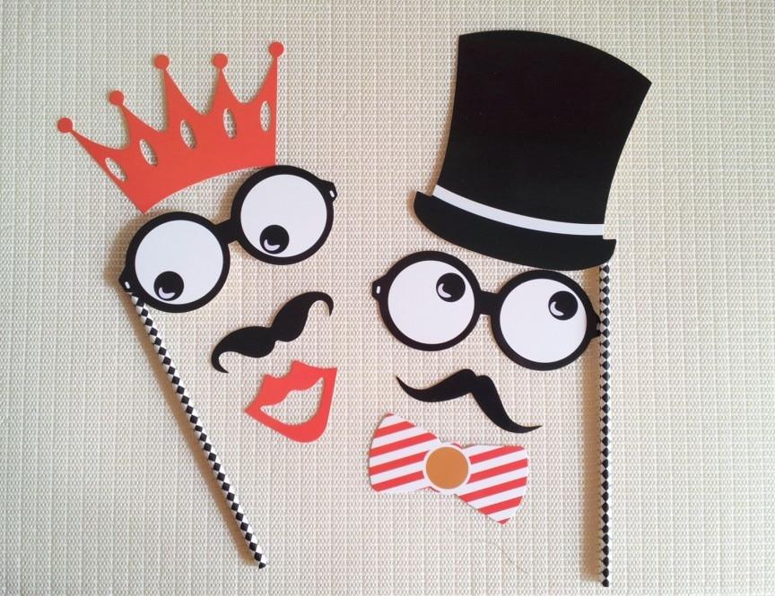 20Pcs drôle de mariage fête d/'anniversaire Photo Props Stand Chapeau Cravate Masque sur un bâton