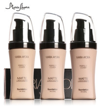 Professional Face Base Make Up Long Lasting Brighten Matte Mineral Whitening Liquid Base Foundation Makeup