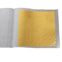 10 قطعة 4.33X4.33 سنتيمتر 24K الحقيقي حقيقية الذهب ورقة احباط التذهيب للحرف اليدوية كعكة الديكور الوجه قناع الجمال الصالحة للأكل شحن مجاني