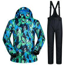 Winter Impression 2017 NEW Men Ski Suit Super Warm Clothing Skiing Snowboard Jacket+Pants Suit Windproof Waterproof Winter Wear