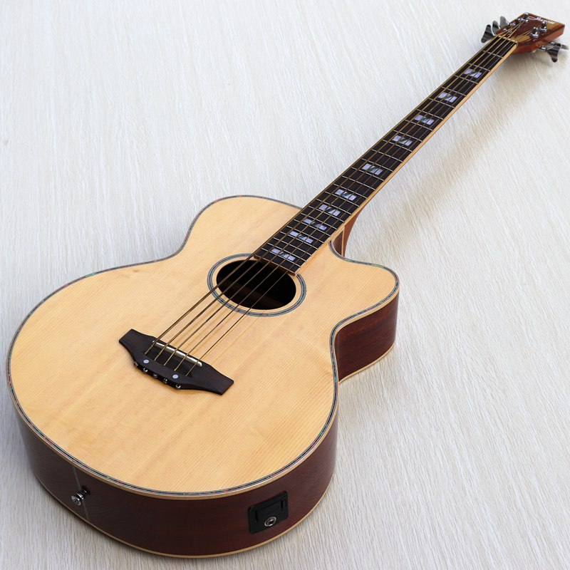 buy 5 string acoustic electric bass guitar with eq with tuner function a small. Black Bedroom Furniture Sets. Home Design Ideas