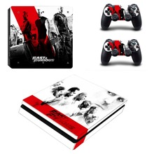 Fast & Furious Vinyl Decal PS4 Slim Skin for Playstaion 4 Console PS4 Slim Skin Stickers+2Pcs Controller Protective Skins