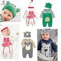 Autumn Baby Romper Sets (Romper+Hat)Cotton Newborn Baby Girls Clothes Suit Roupas De Bebe jumpsuit Baby Boy Clothes Kid Rompers