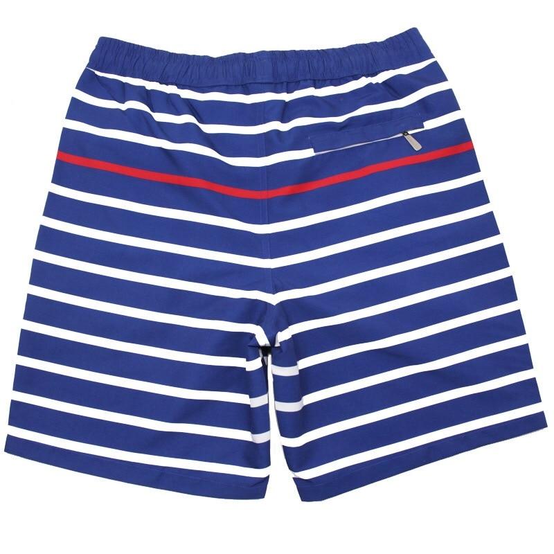 Topdudes.com - Men's Striped Board Shorts Quick Dry Beach Shorts