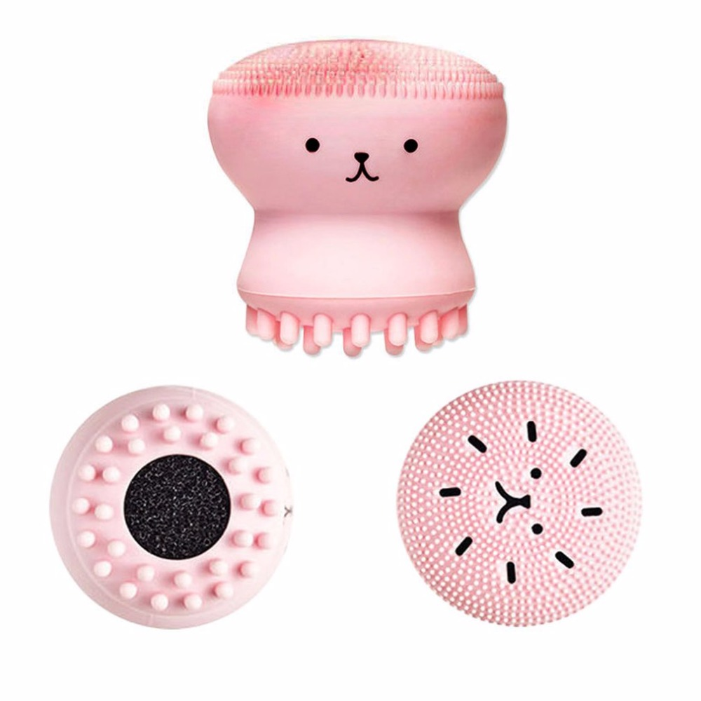 1pcs Animal Small Octopus Shape Silicone Facial Cleaning Brush Deep Pore Cleaning Exfoliator Face Washing Brush Skin Care new in Face Skin Care Tools from Beauty Health