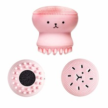 1pcs Animal Small Octopus Shape Silicone Facial Cleaning Brush Deep Pore Exfoliator Face Washing Skin Care new