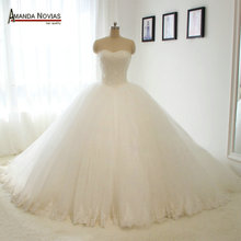 Amanda Chen 100% Real Photos Wedding Dress Strapless Novias
