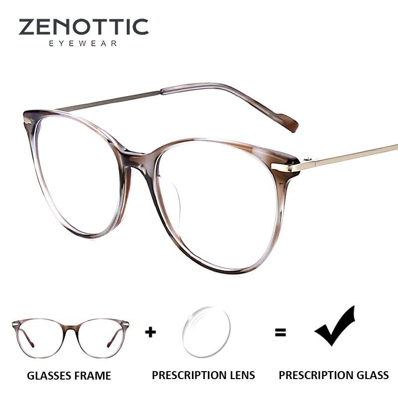 Begeistert Zenottic 2019 Optische Brillen Für Frauen Rahmen Anti-blau-ray Brillen Photochrome Hyperopie Myopie Brillen Klar Bekleidung Zubehör Korrektionsbrillen