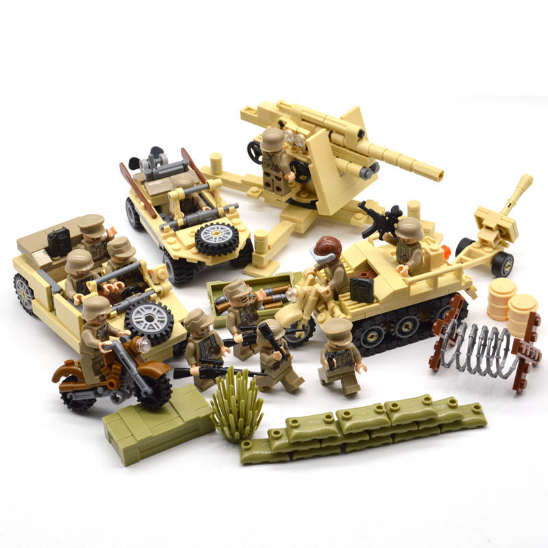New ww2 blocks soldiers Military Army sets figures Building blocks toys for boys US Russia UK Trooper-in Blocks from Toys & Hobbies