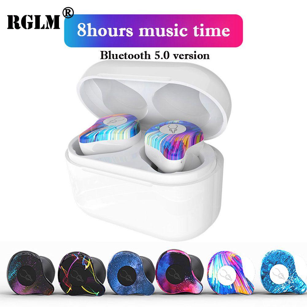RGLM True Wireless Earphones Bluetooth 5.0 ear bud Deep bass Headphones Sweatproof Sport Headset For Apple iPhone And Android