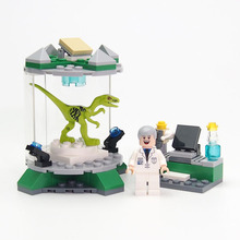 Jurassic World Park Minifigures toys Dinosaur Laboratory Mini Kid Baby Toy Compatible legoes Building Blocks Model Toys Brick