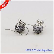 Drop Earrings For Women 100% 925 Sterling Silver Jewelry With Clear CZ Stones Fashion Jewelry Charm Wholesale