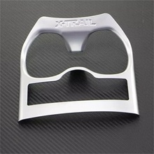 ABAIWAI Car Accessories For Nissan X-Trail T32 Interior Cup Holder Cover Sticker Automobiles Styling Auto Part ABS Chrome XTrail