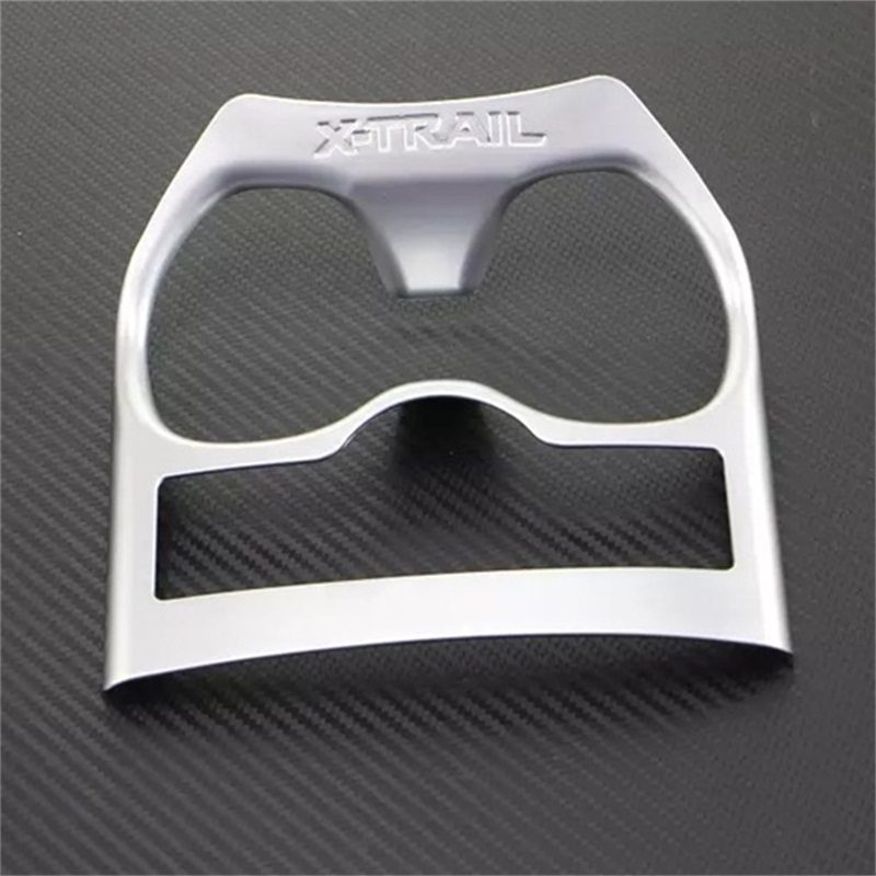 ABAIWAI Car Accessories For Nissan X Trail T32 Interior Cup Holder Cover Sticker Automobiles Styling Auto Part ABS Chrome XTrail