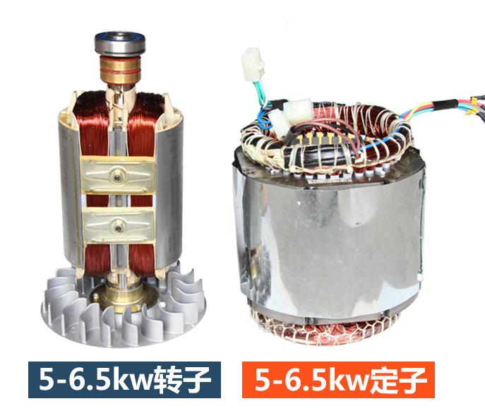 Fast shipping 5kW 220V 50Hz Single Phase rotor stator gasoline generator diesel generator suit for any Chinese brand fast shipping 3kw 220v 50hz flat shaft 19 rotor stator gasoline generator diesel generator suit for any chinese brand