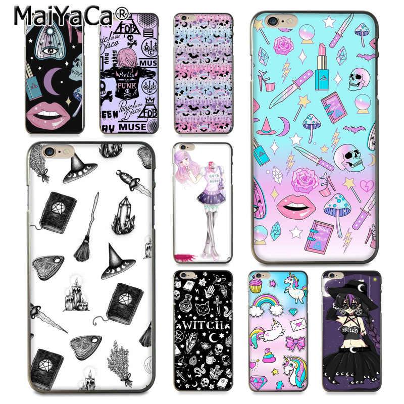 MaiYaCa Girly פסטל מכשפה גותיקה הצעה מיוחדת יוקרה רך טלפון מקרה עבור iPhone 8 7 6 6S בתוספת X 10 5 5S SE 5C Coque פגז