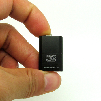high quality alloy metal black USB 2.0 Card Reader Micro SD TF T-Flash Memory SD Card Reader Adapter