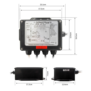 Image 5 - Vagsure 1set AC 110V/220V Digital Control Panel With LCD Screen Spa Combo Water Air Massage Bathtub whirlpool Controller Kits
