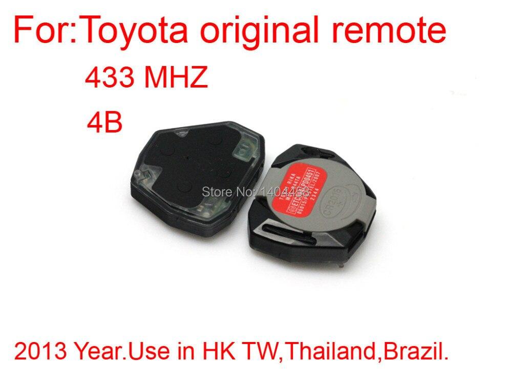 High Quality car remote key remote interior 4 button 433MHZ for Toyota original Free shipping