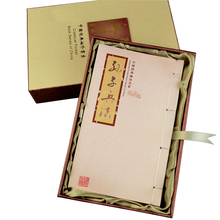 Fancy Silk Book English and Chinese stamps / cultural gifts abroad to send foreigners
